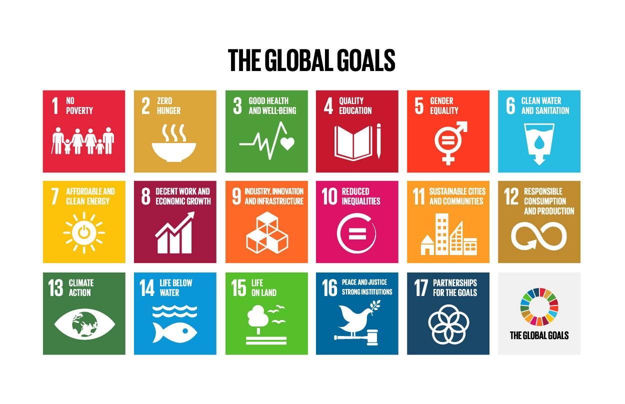 Die 17 globalen nachhaltigen Entwicklungsziele der UN