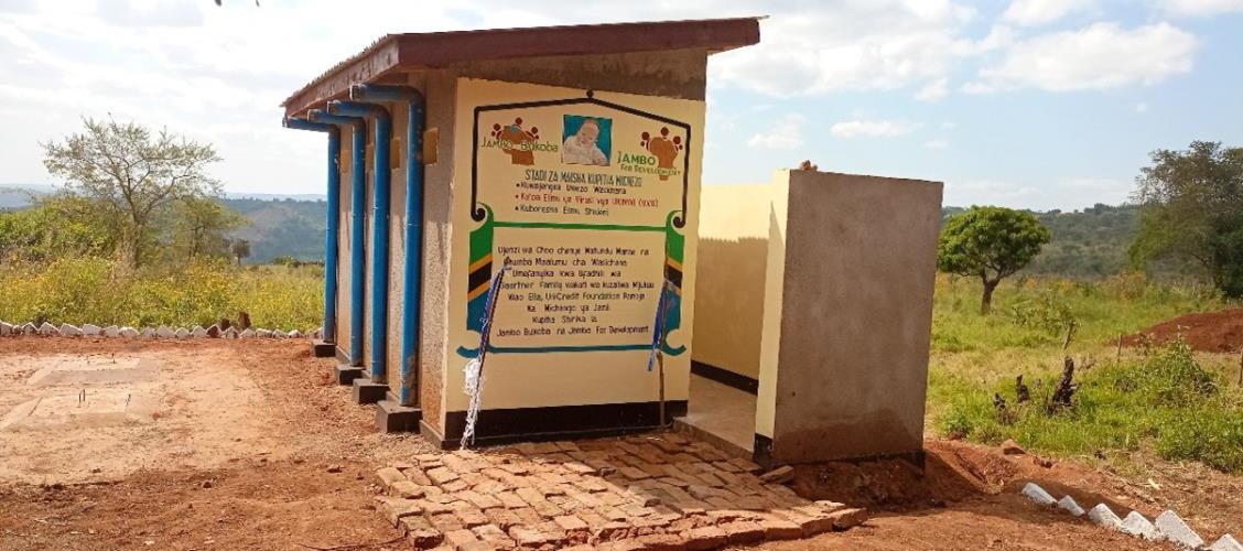 sanitaere anlagen Bukangara Primary School nach renovierung