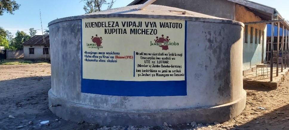 wassertank mafumbo grundschule nach der renovierung